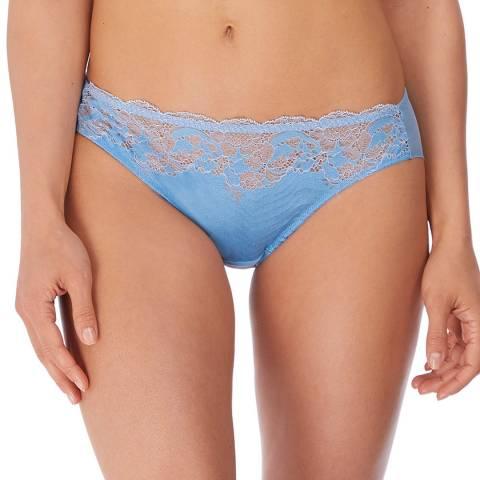 Wacoal Deep Sea Blue/Ivory Lace Affair Bikini Brief