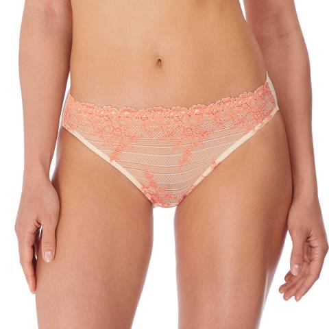 Wacoal Naturally Nude/Coral Embrace Lace Bikini Brief