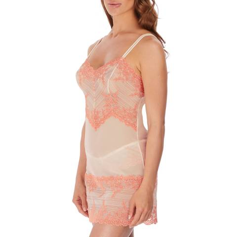 Wacoal Naturally Nude/Coral Embrace Lace Chemise