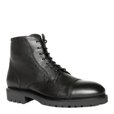 BOSS Black Eden Leather Ankle Boots