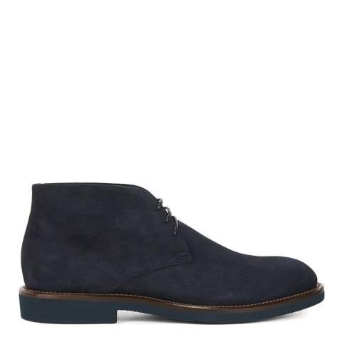 BOSS Dark Blue Eden Suede Boots