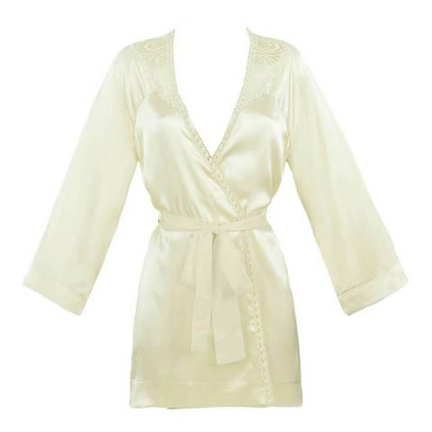 Simone Perele Champagne Pensee Silk Kimono