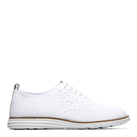 Cole Haan White Grandpro Wingtip Oxford Shoes