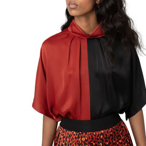 HUGO Black Cersa-1 Contrast Top