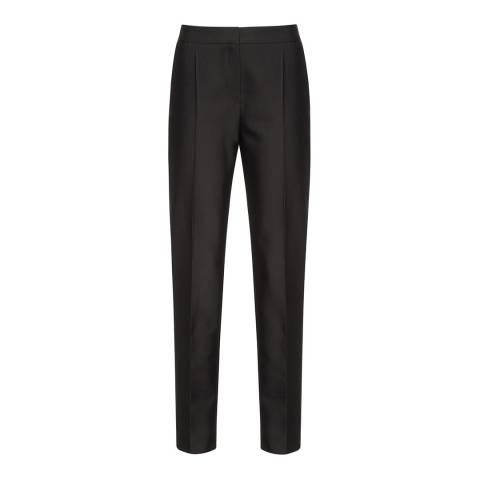 HUGO Black Hokelly Wool Blend Trousers
