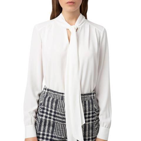 HUGO White Cessica-1 Tie Top
