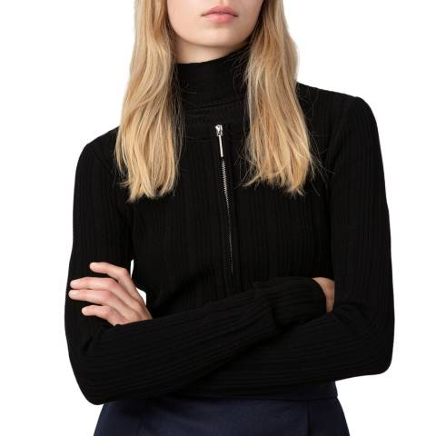 HUGO Black Sierry Ribbed Jacket