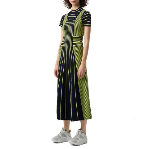 HUGO Green Stripe Silbiana Dress