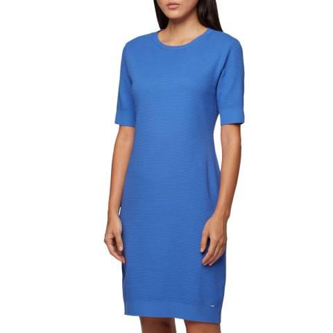 BOSS Blue Dabutton Ribbed Dress