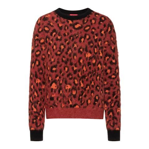 HUGO Red Leopard Sitaly Wool Blend Jumper