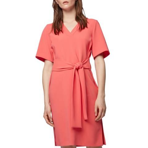 BOSS Pink Dakali V-Neck Dress