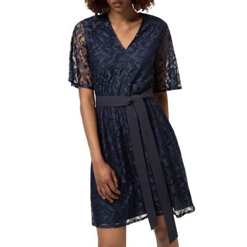 HUGO Navy Lace Kabela Dress