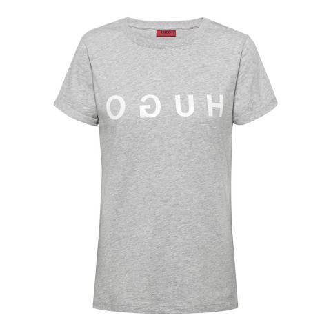 HUGO Grey Denna Slim T-Shirt