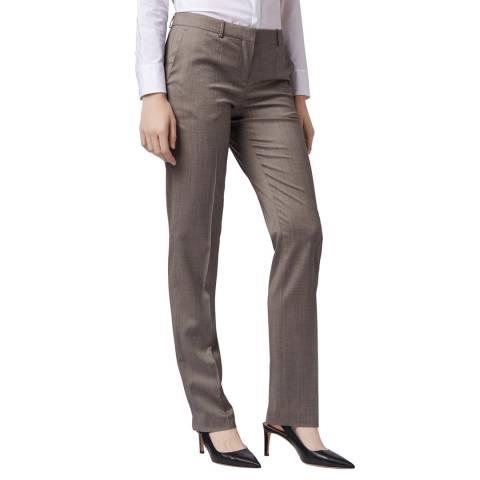 BOSS Slate Tamea12 Wool Trousers