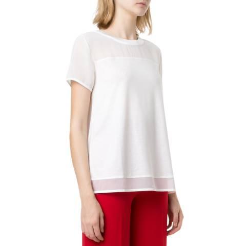HUGO White Dikeri Chiffon T-Shirt