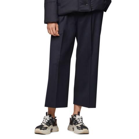 BOSS Navy Tayamana Wide Leg Trousers