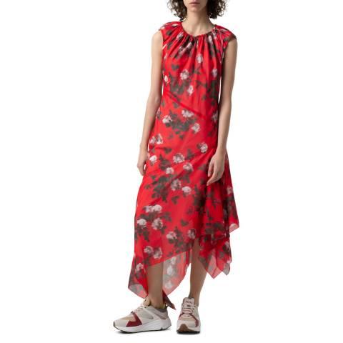 HUGO Red Print Kefesha Dress