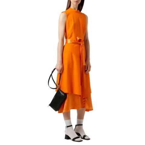 HUGO Orange Kethea Tie Waist Dress