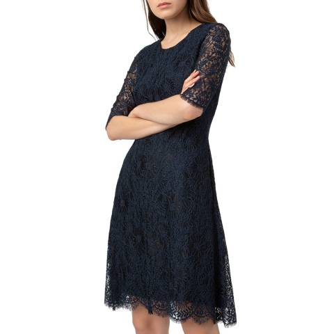 HUGO Navy Lace Kirelia-1 Dress