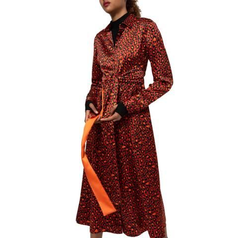 HUGO Orange Leopard Kolema Dress