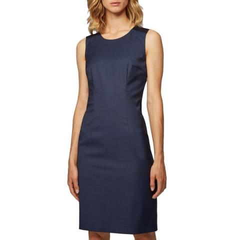 BOSS Blue Dristie Shift Wool Dress