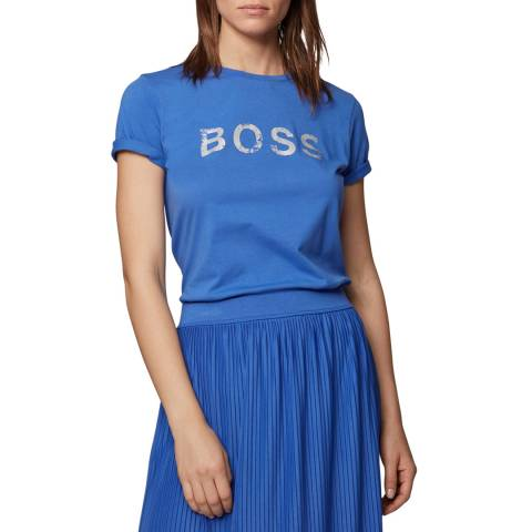 BOSS Blue Foil Tepaper T-Shirt