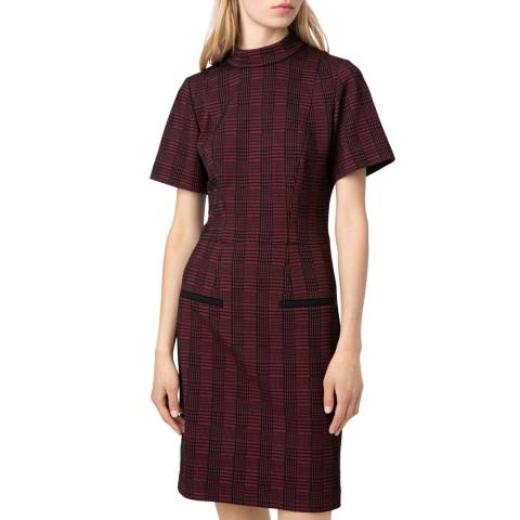 HUGO Red Check Konele Dress