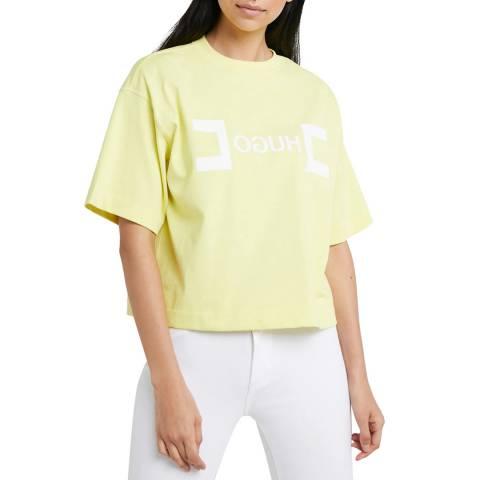 HUGO Yellow Dufia Logo T-Shirt