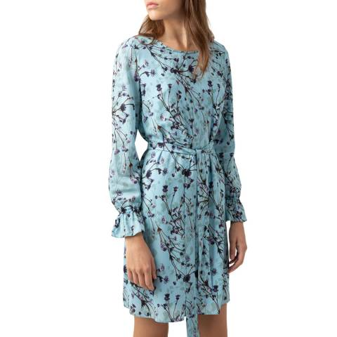 HUGO Blue Floral Kosas-1 Dress