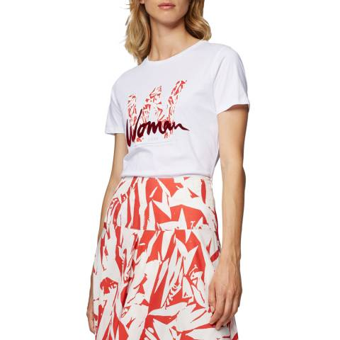BOSS White Tewoman Crew T-Shirt