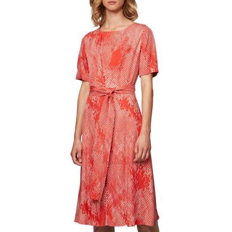 BOSS Red Print Duvana Midi Dress