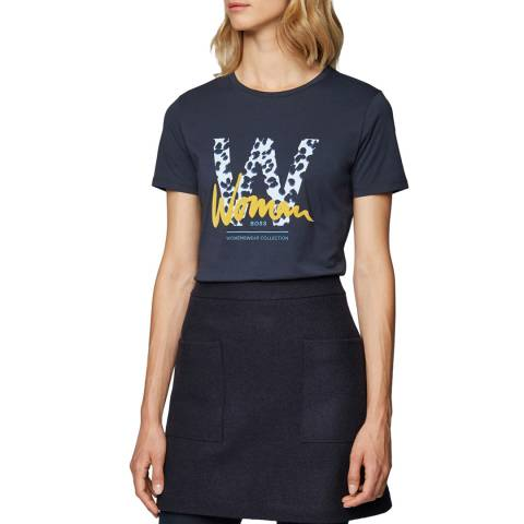 BOSS Navy Tewoman Crew T-Shirt