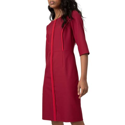 HUGO Red Piped Kurena Dress