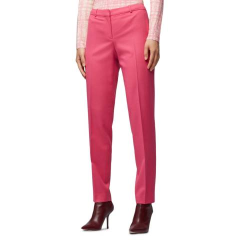 BOSS Pink Tiluni1 Woll Blend Trousers