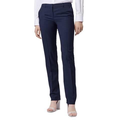 BOSS Navy Titana6 Tailored Trousers