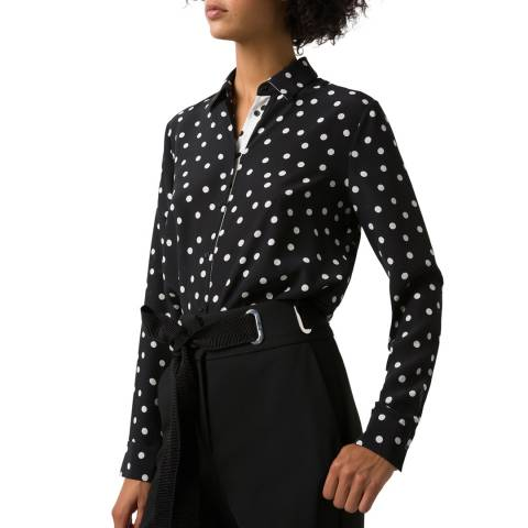 HUGO Black Dot Elifia Silk Blouse