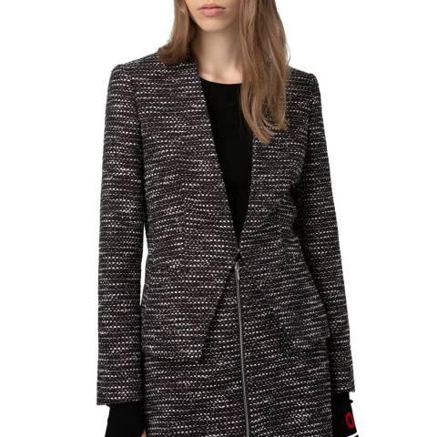 HUGO Black Print Abini Woll Blend Jacket