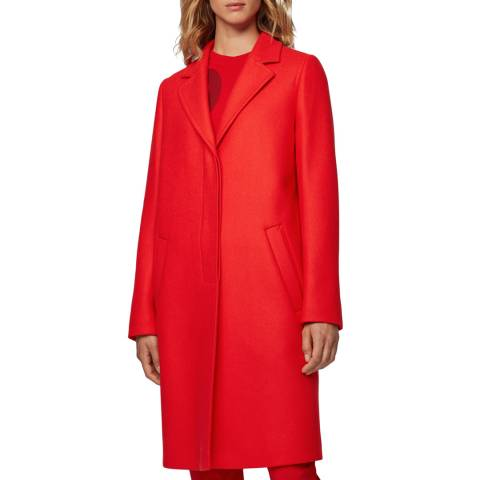 BOSS Red Oluise Cashmere Wool Blend Coat