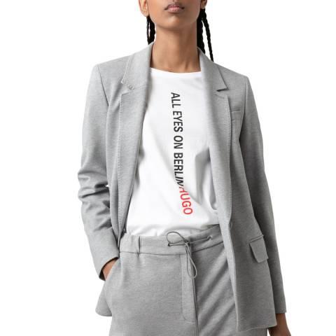 HUGO Grey Ajanati Jersey Stretch Jacket