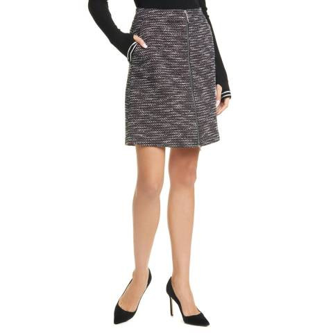 HUGO Black Print Ranusi Wool Blend Skirt