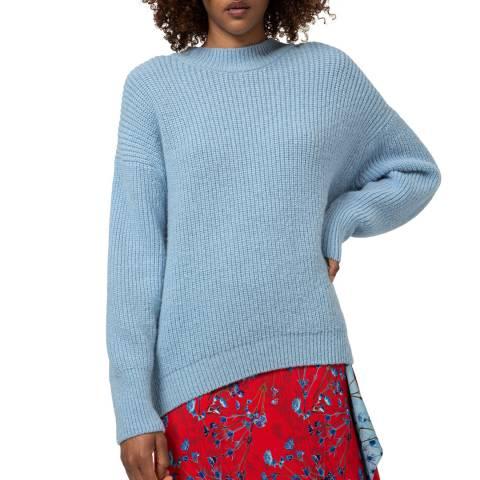 HUGO Blue Sabretta Wool Blend Jumper