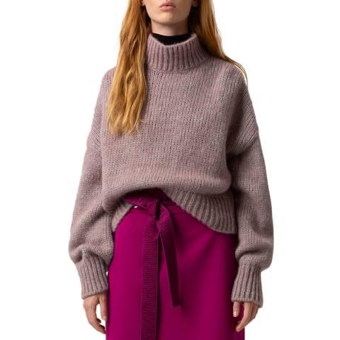HUGO Pink Sacia Wool Blend Jumper