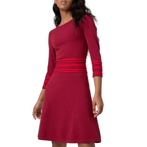 HUGO Red Stripe Sandreyya Dress