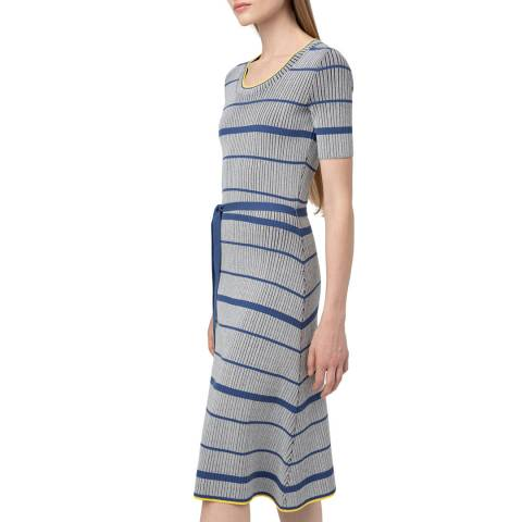 HUGO Grey Stripe Sandrinna Knit Dress