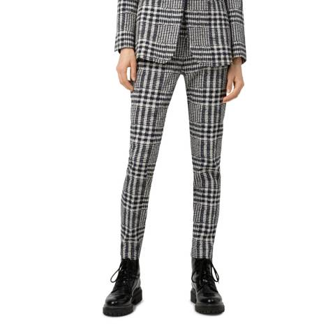 HUGO Black Check Hanette Straight Stretch Trousers