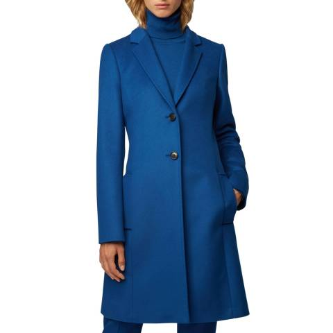 BOSS Blue Cavinela Cashmere/Wool Blend Coat
