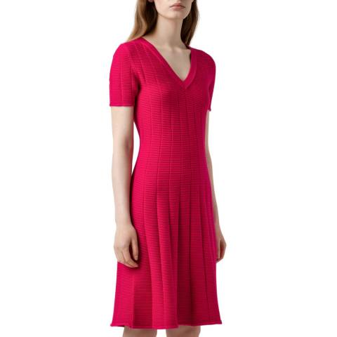 HUGO Red Sawerya Knitted Dress
