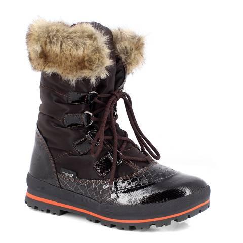 Kimberfeel Brown Victoria Faux Fur Cuff Boots