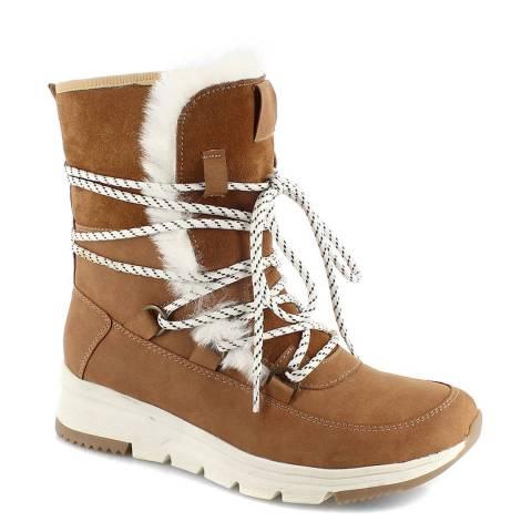 Kimberfeel Beige Alyssia Snow Boots