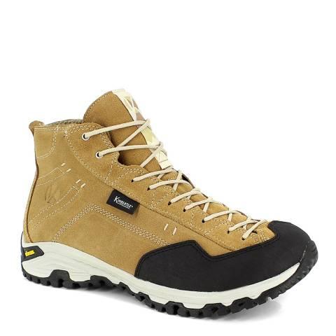 Kimberfeel Yellow Leather Rio Hiking Boots